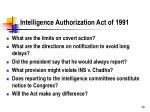 intelligence authorization act of 1991