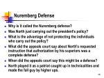 nuremberg defense