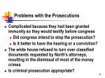 problems with the prosecutions