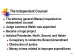 the independent counsel