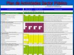 plan de actividades sector p blico