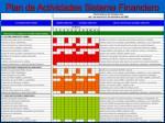 plan de actividades sistema financiero