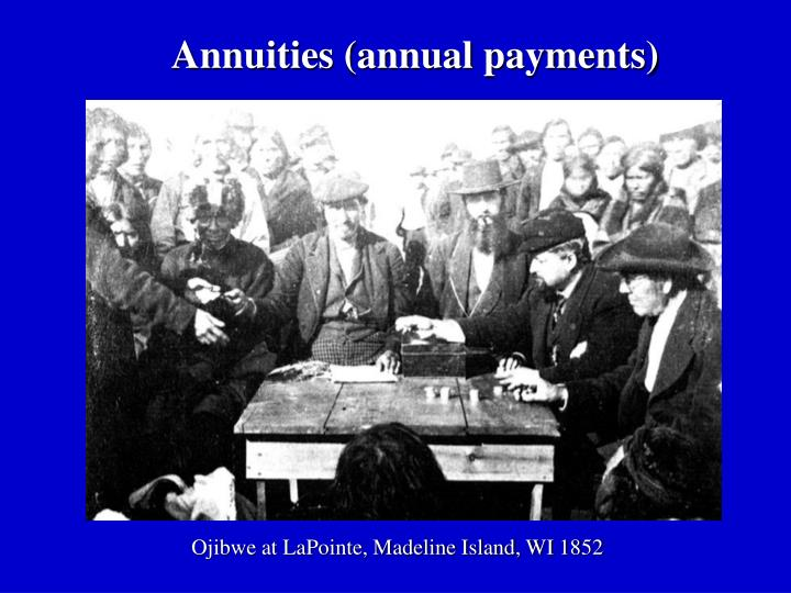 Annuities (annual payments)