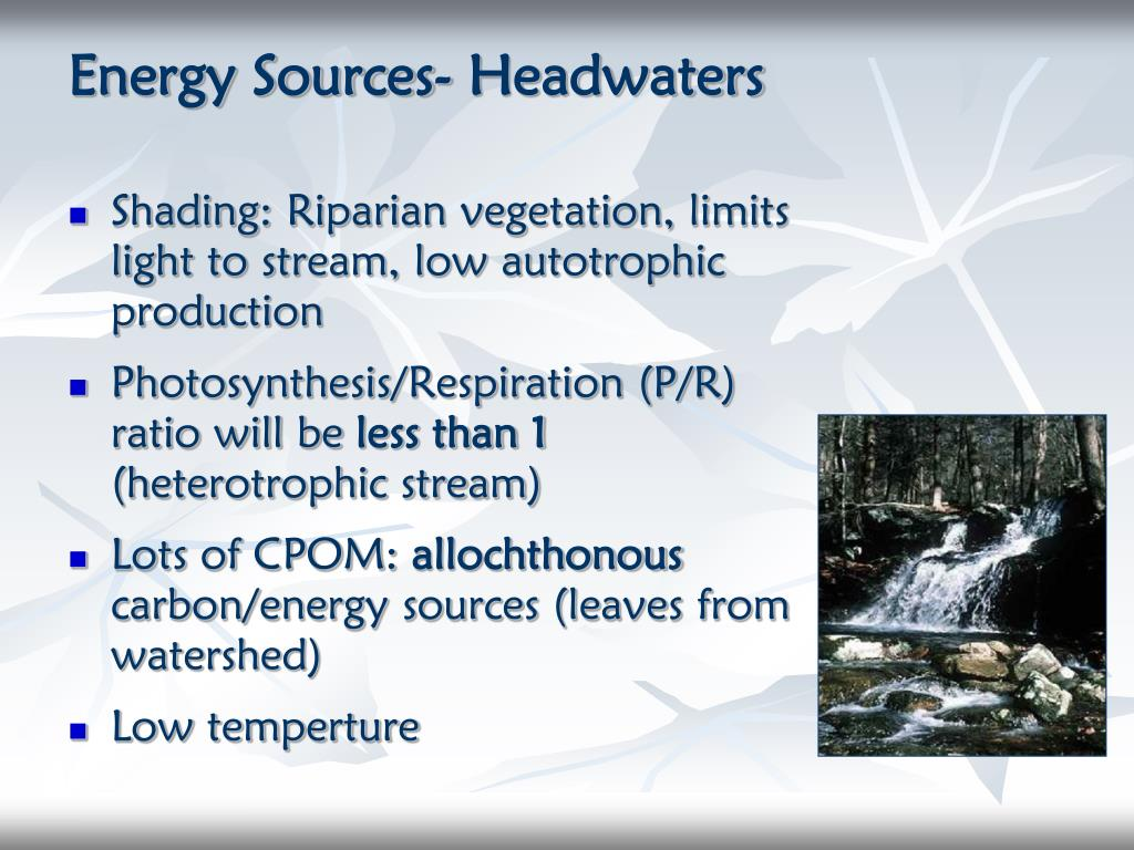 Energy Sources- Headwaters
