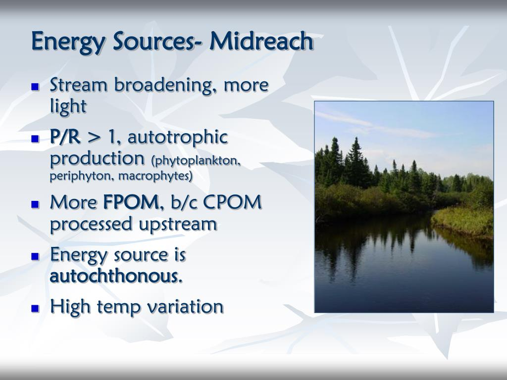 Energy Sources- Midreach