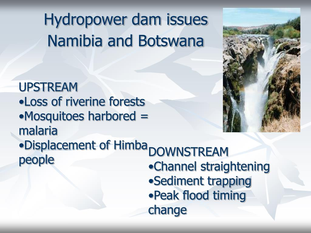 Hydropower dam issues