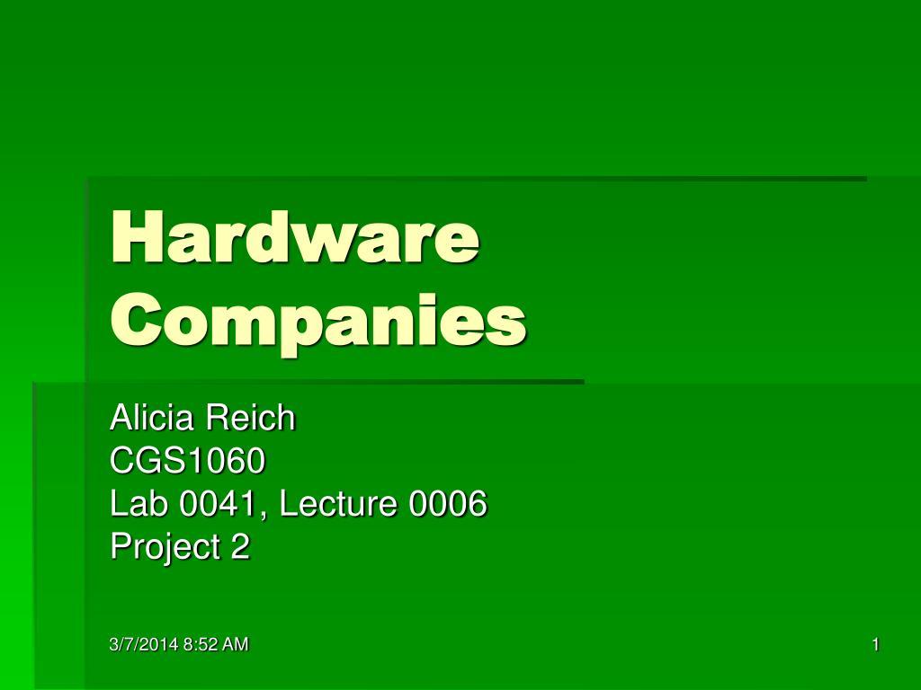 hardware companies l.