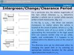 intergreen change clearance period36