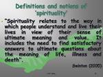 definitions and notions of spirituality15