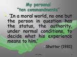 my personal ten commandments9