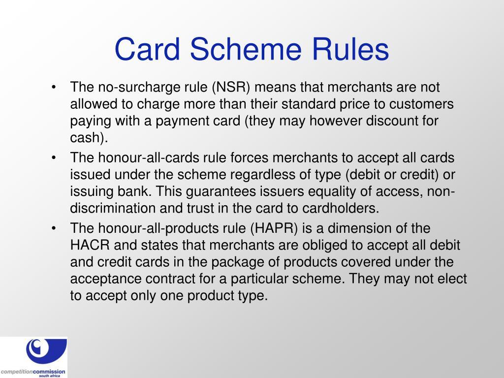 Card Scheme Rules