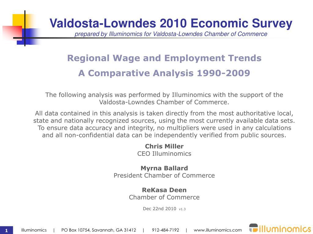 Valdosta-Lowndes 2010 Economic Survey