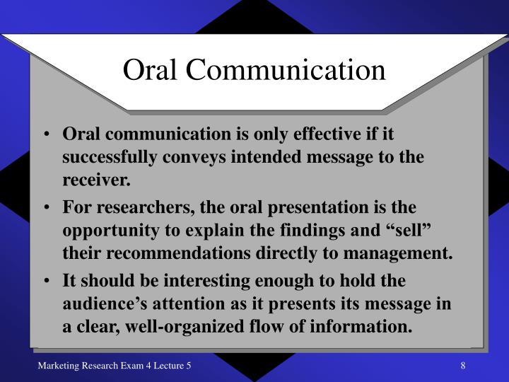 Basic Principles of Oral Presentation