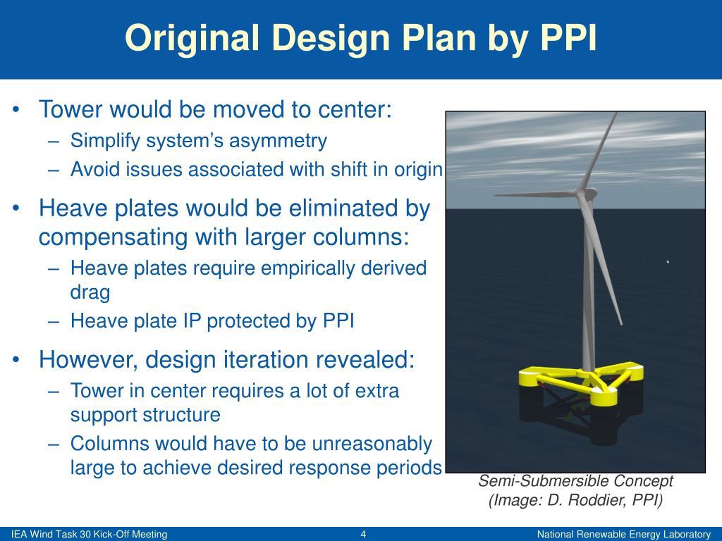 Original Design Plan by PPI