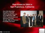 past event in 2004 in san francisco california