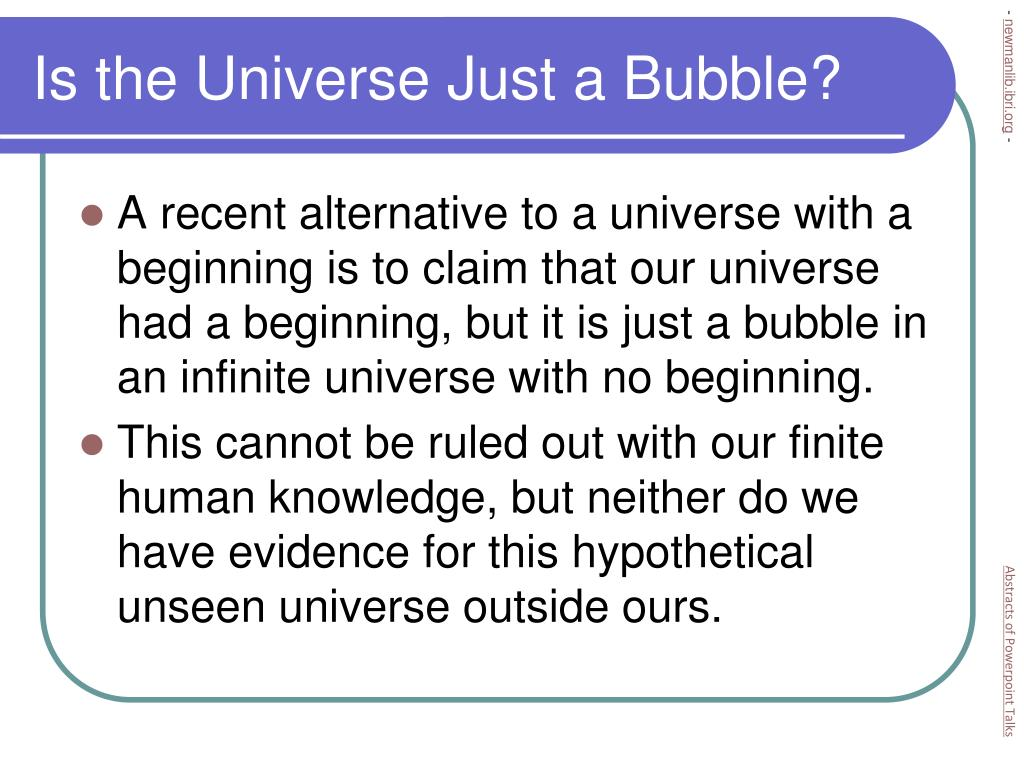 Is the Universe Just a Bubble?