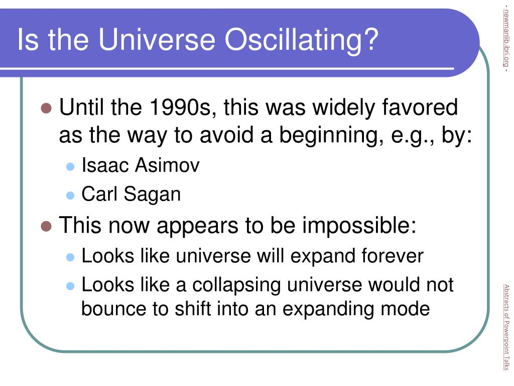 Is the Universe Oscillating?