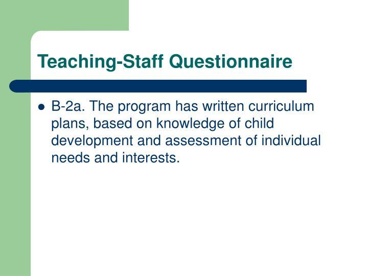 Teaching staff questionnaire3