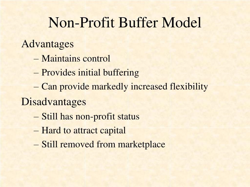 Non-Profit Buffer Model