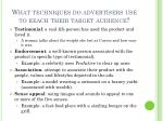 what techniques do advertisers use to reach their target audience