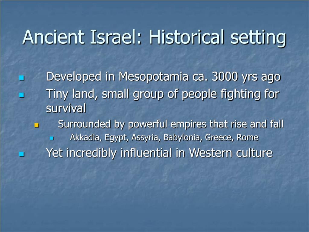 Ancient Israel: Historical setting