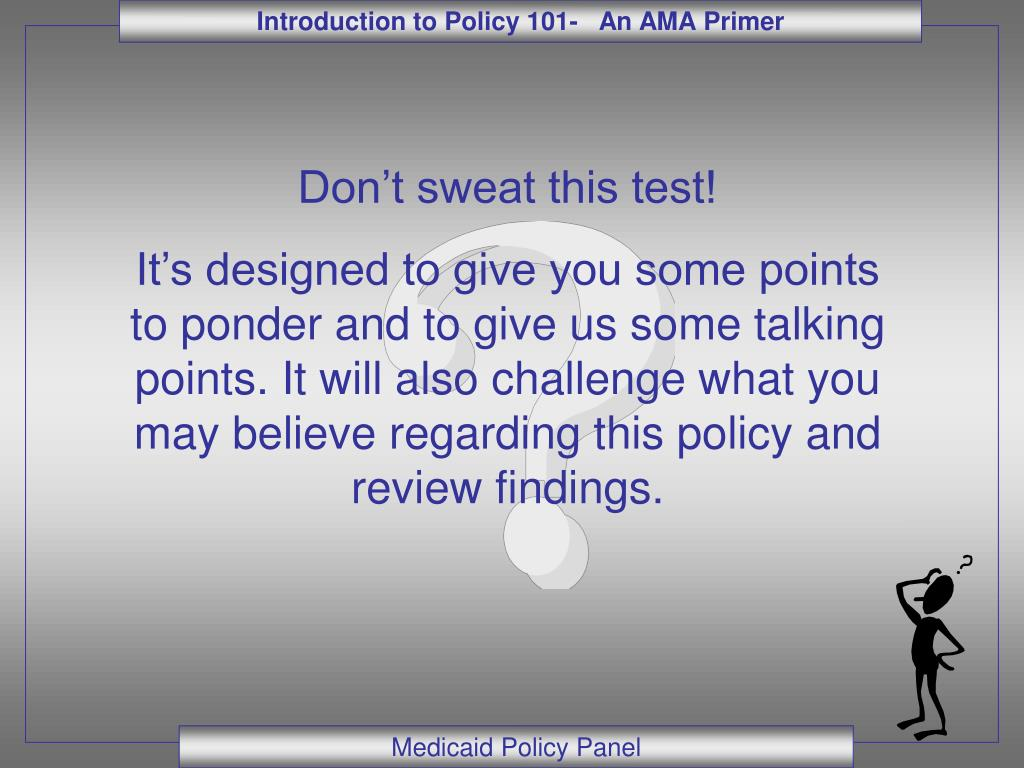 Don't sweat this test!