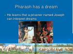 pharaoh has a dream