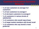 customer performance scorecard measures