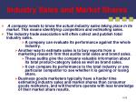 industry sales and market shares