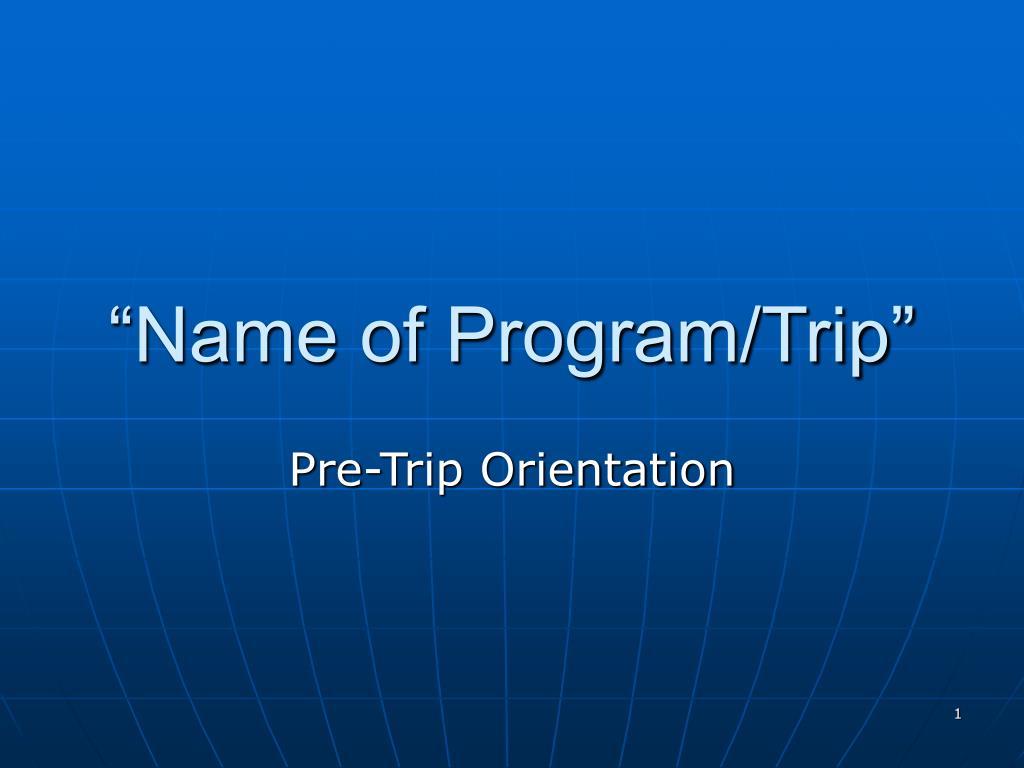 name of program trip l.