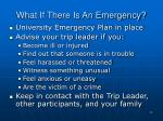 what if there is an emergency