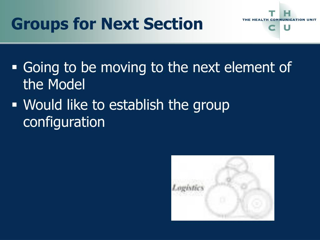Groups for Next Section