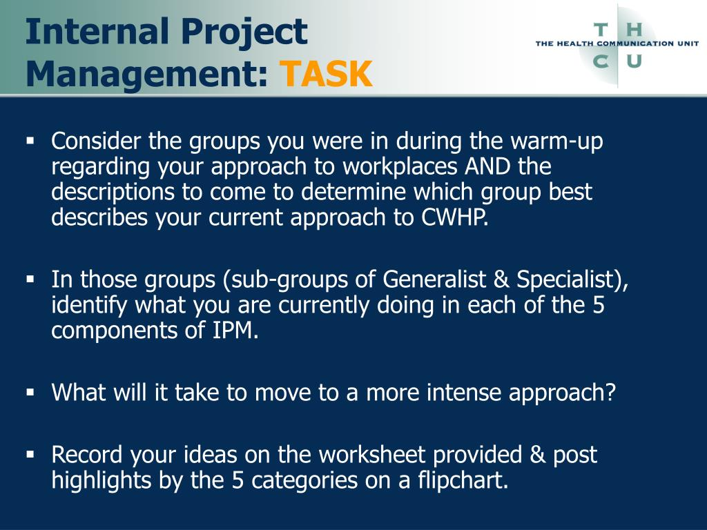 Internal Project Management: