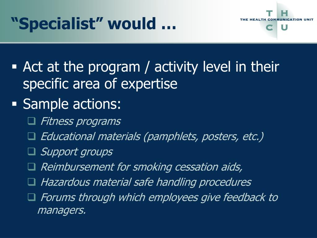 """""""Specialist"""" would …"""
