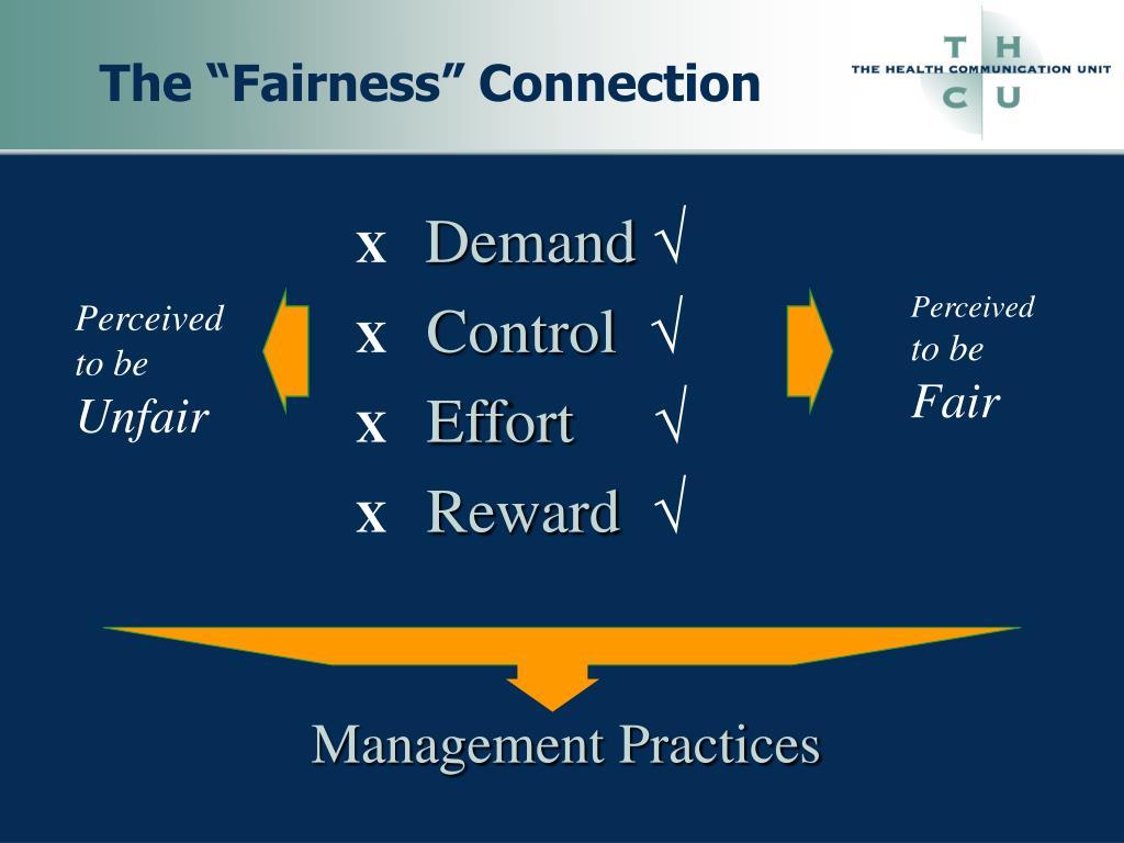 "The ""Fairness"" Connection"