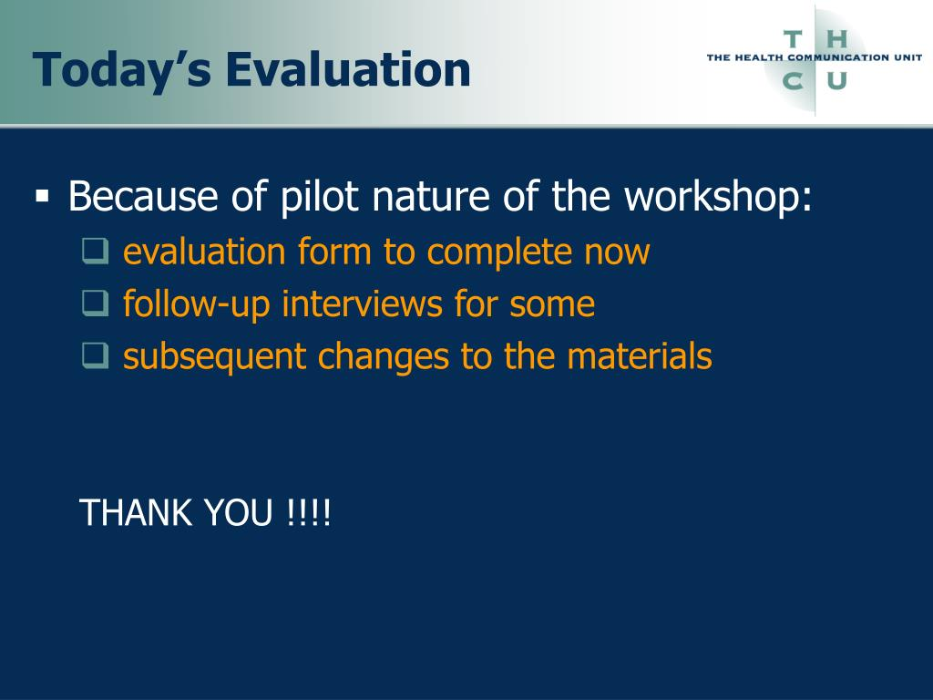 Today's Evaluation