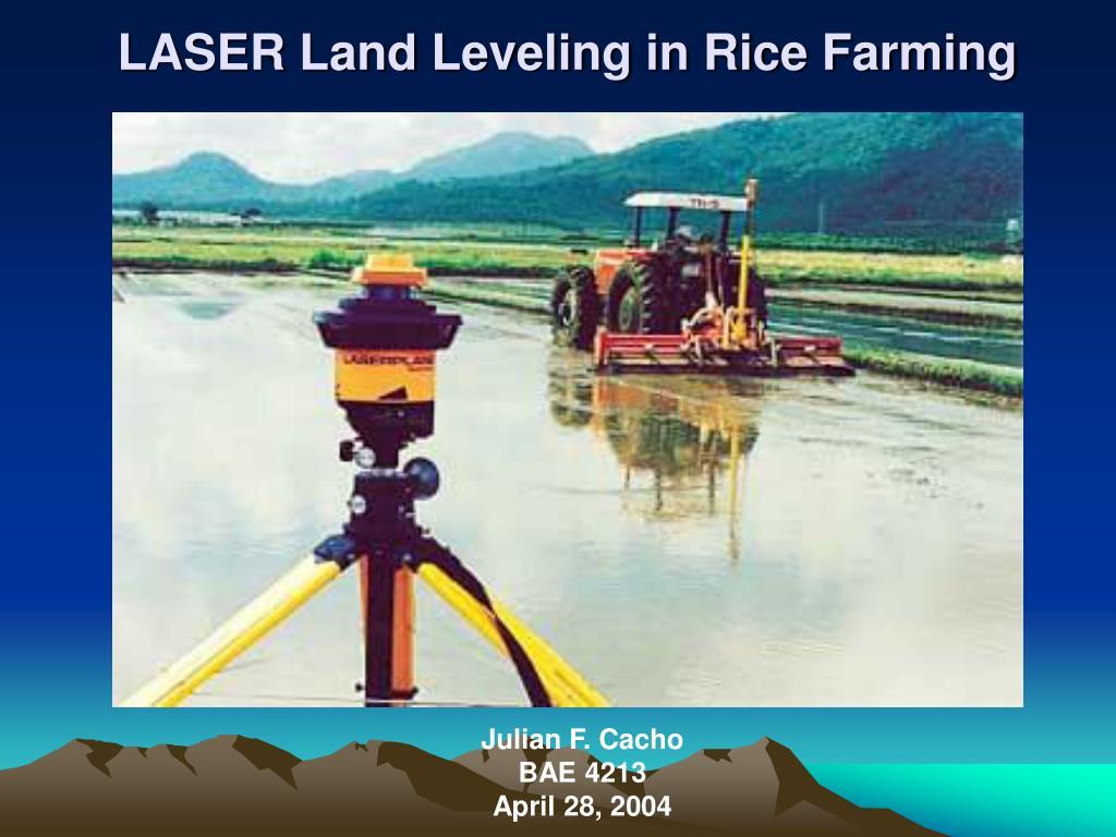 laser land leveling in rice farming l.