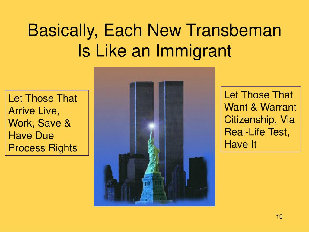 Basically, Each New Transbeman Is Like an Immigrant