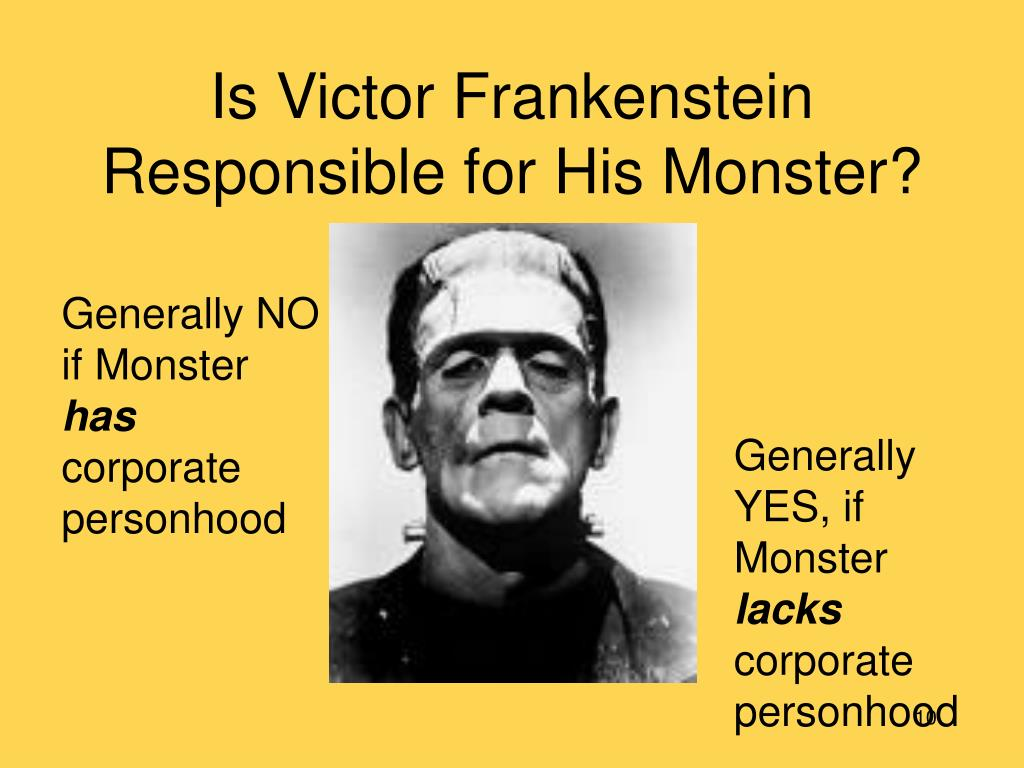 Is Victor Frankenstein Responsible for His Monster?