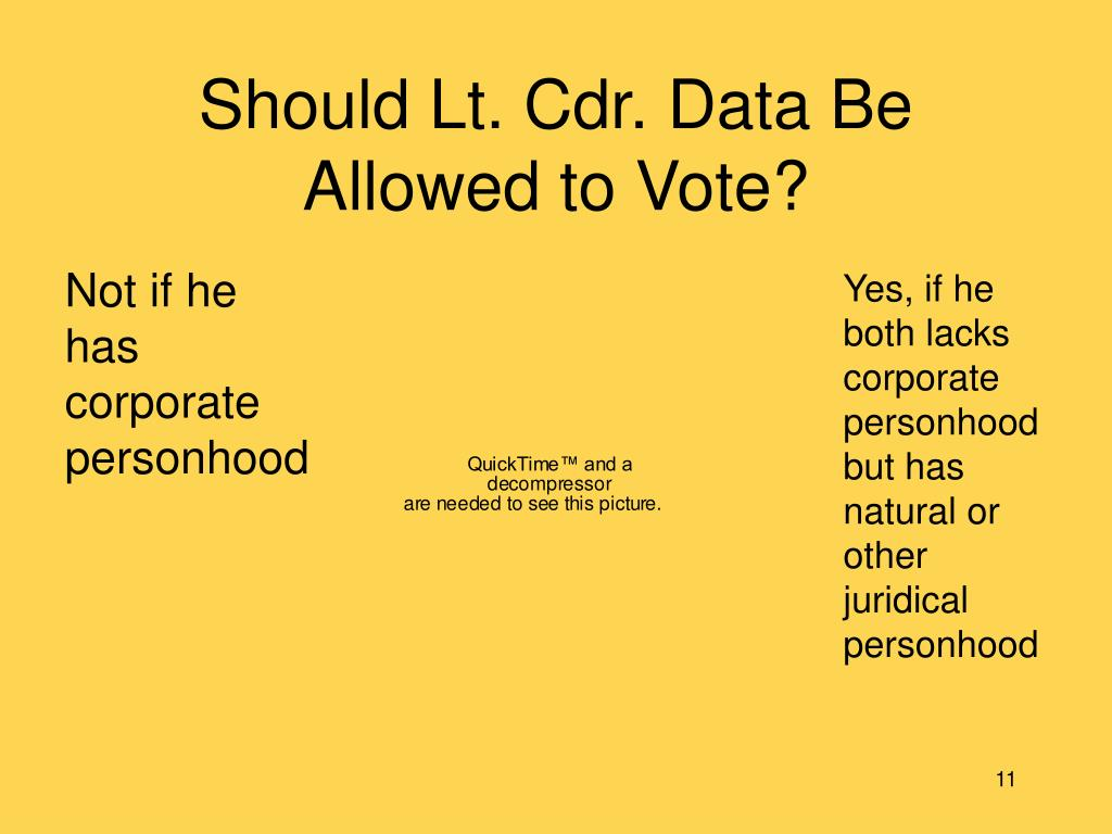 Should Lt. Cdr. Data Be Allowed to Vote?