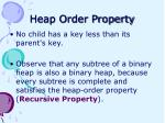 heap order property
