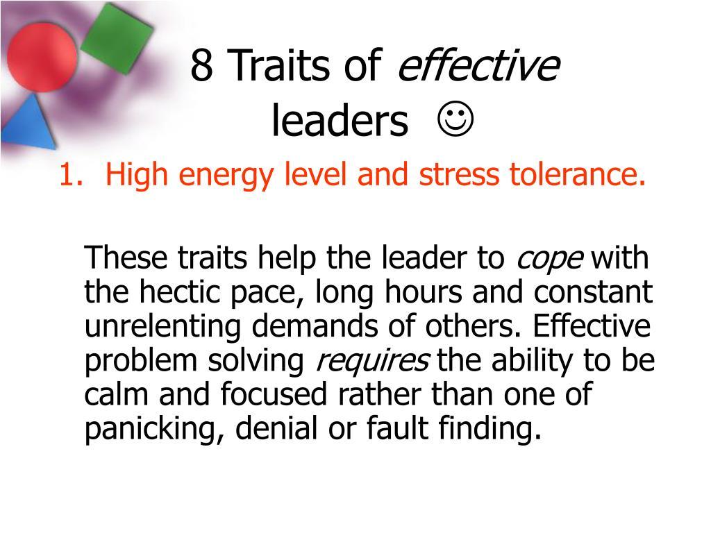 8 Traits of