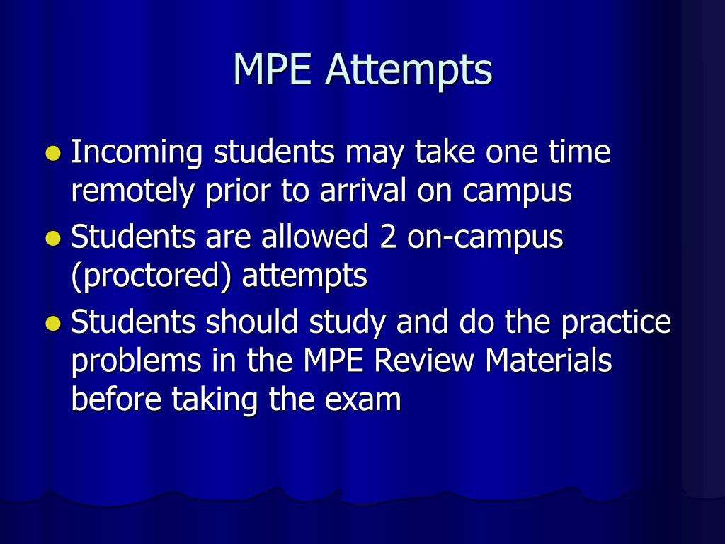 MPE Attempts