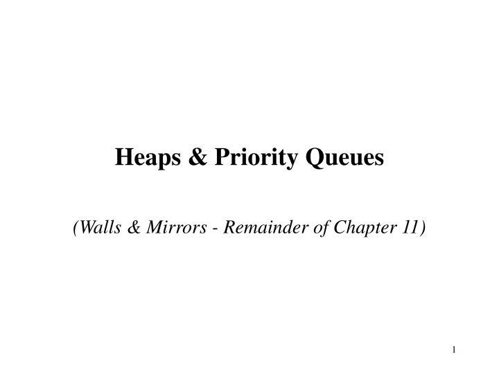 heaps priority queues