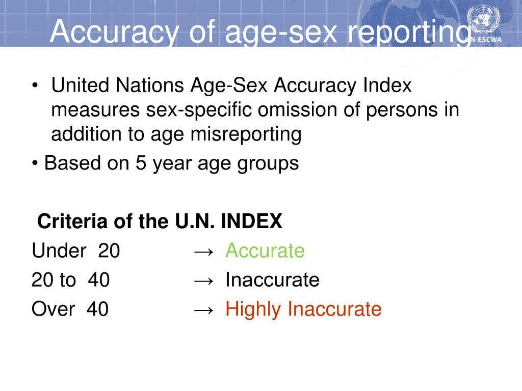 Accuracy of age-sex reporting