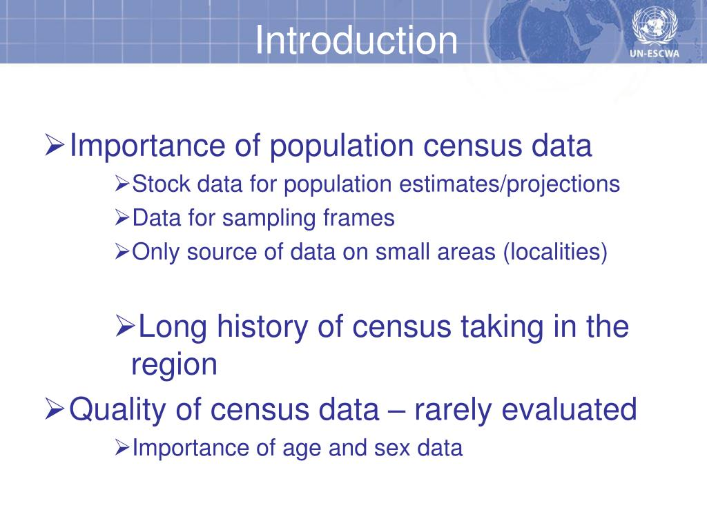 Importance of population census data