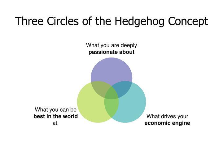 Three circles of the hedgehog concept