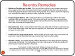 re entry remedies