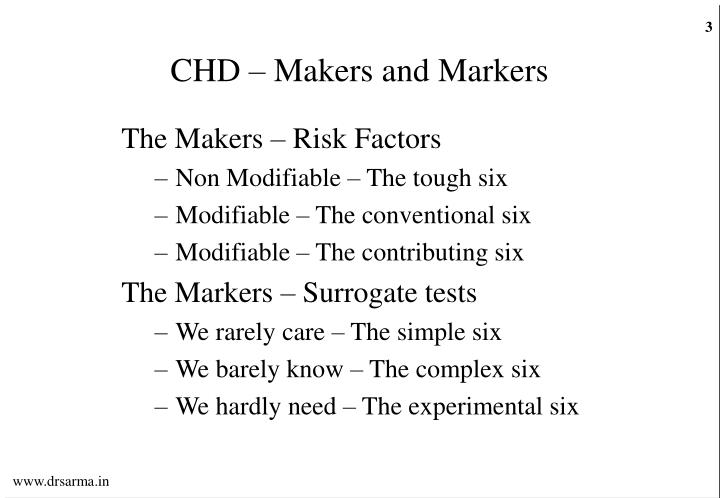Chd makers and markers