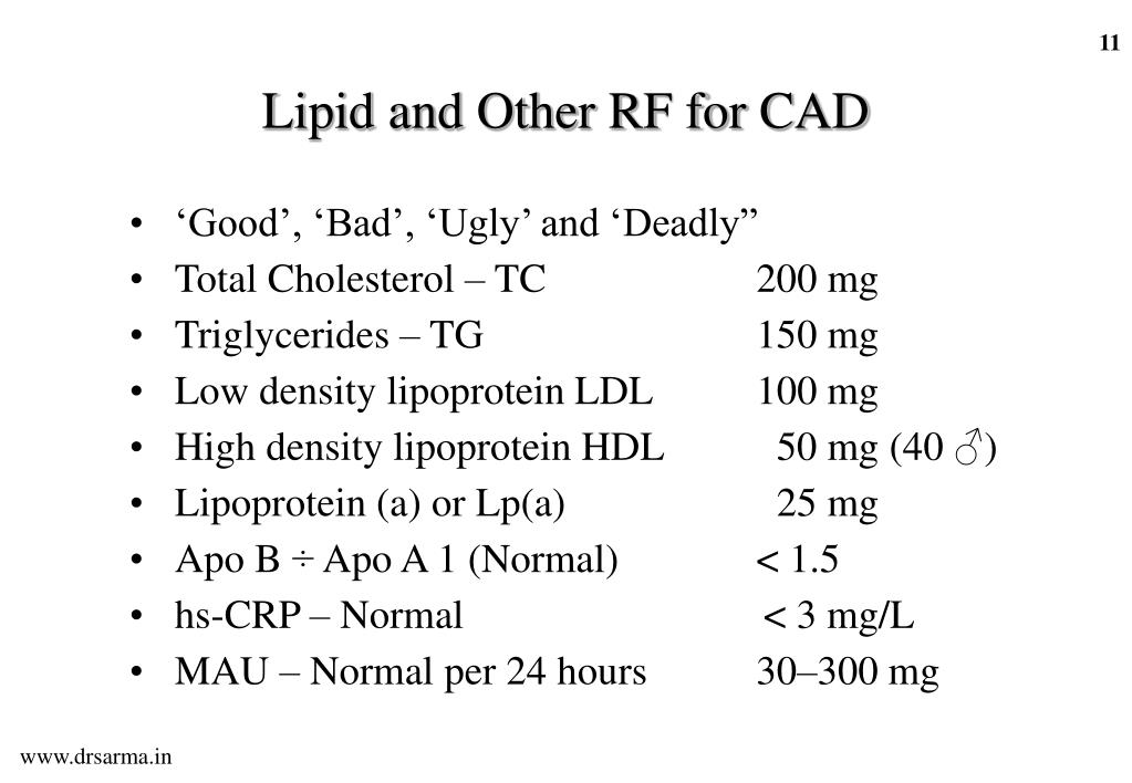 Lipid and Other RF for CAD